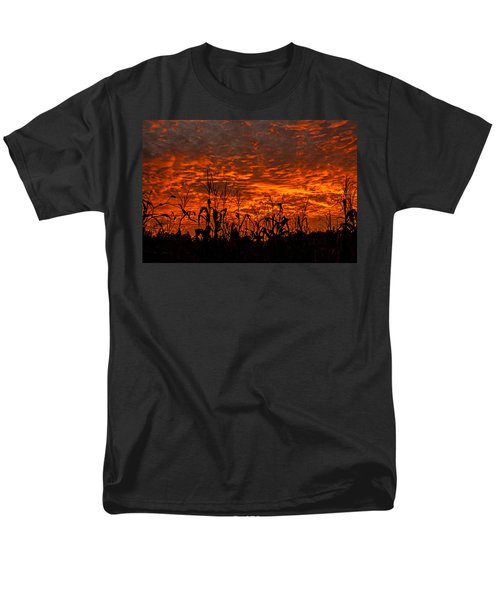 Men's T-Shirt  (Regular Fit) featuring the photograph Corn Under A Fiery Sky by John Harding