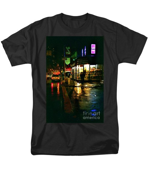 Men's T-Shirt  (Regular Fit) featuring the photograph Corner In The Rain by Miriam Danar