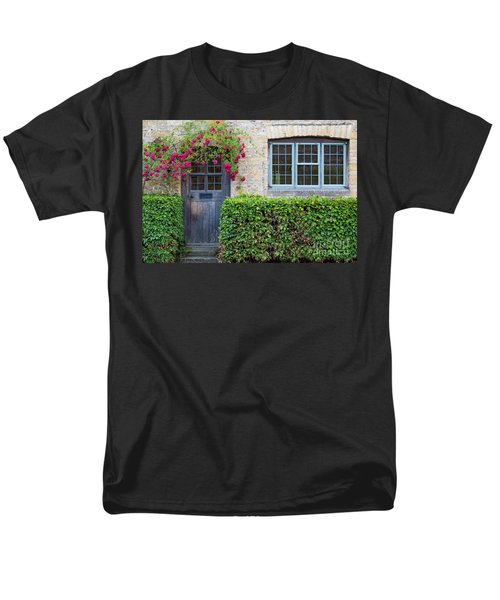 Men's T-Shirt  (Regular Fit) featuring the photograph Cotswolds Cottage Home by Brian Jannsen