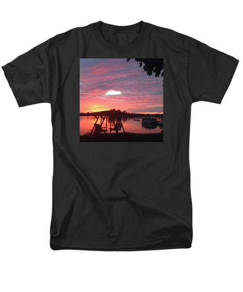 Cotton Candy Sunset Men's T-Shirt  (Regular Fit) by Rebecca Wood