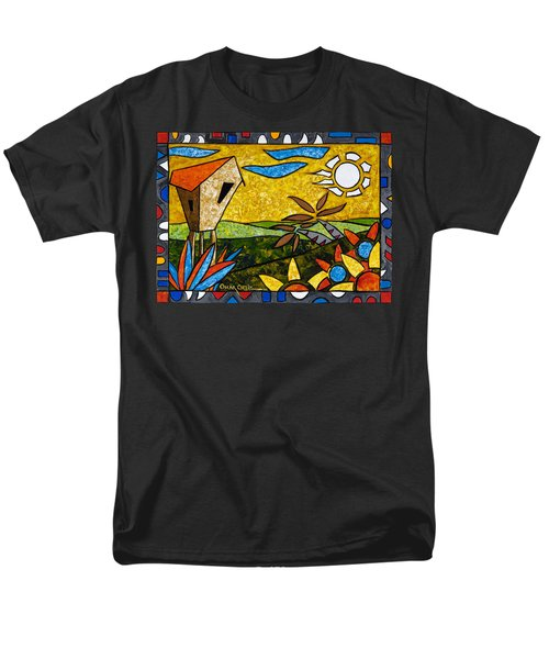 Country Peace Men's T-Shirt  (Regular Fit) by Oscar Ortiz