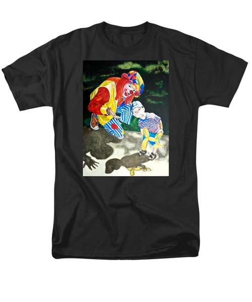 Men's T-Shirt  (Regular Fit) featuring the painting Couple Of Clowns by Lance Gebhardt