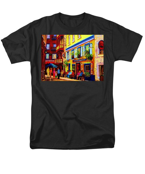 Courtyard Cafes Men's T-Shirt  (Regular Fit) by Carole Spandau