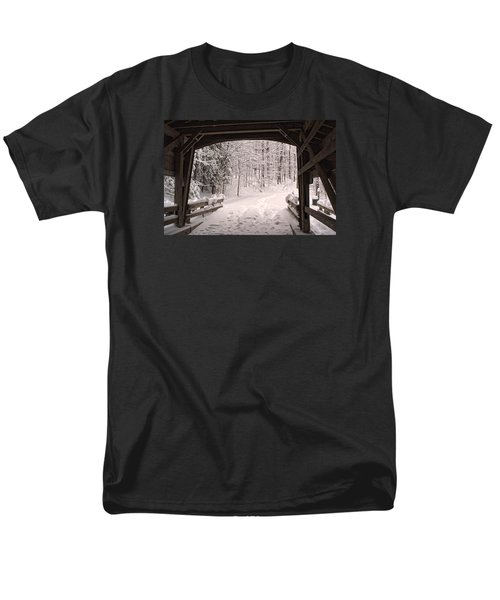 Covered Bridge Men's T-Shirt  (Regular Fit) by Michael McGowan