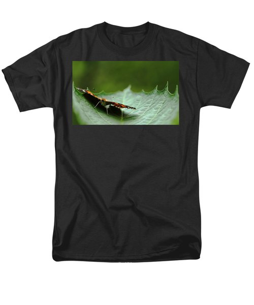 Men's T-Shirt  (Regular Fit) featuring the photograph Cradled Painted Lady by Debbie Oppermann
