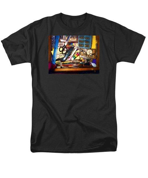 Craft Drawer Clutter Men's T-Shirt  (Regular Fit) by Ric Darrell