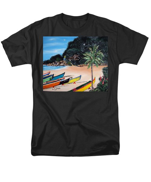 Crashboat Beach I Men's T-Shirt  (Regular Fit) by Luis F Rodriguez