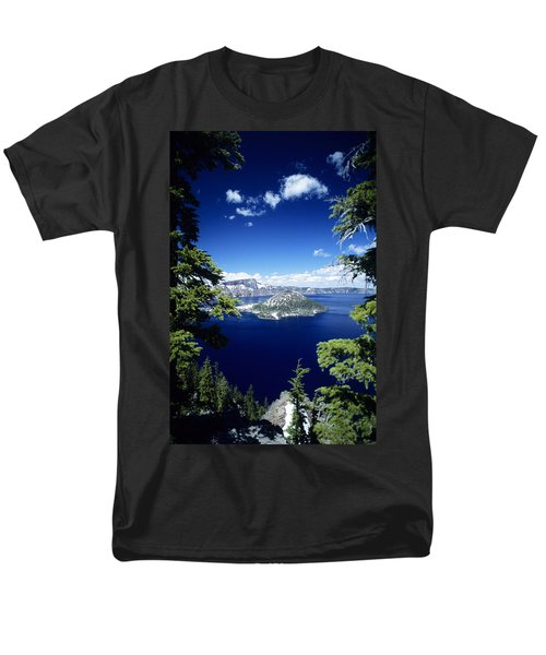 Crater Lake Men's T-Shirt  (Regular Fit) by Allan Seiden - Printscapes