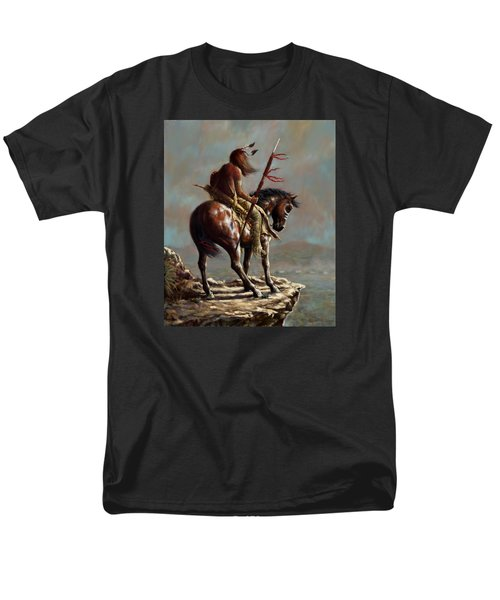 Men's T-Shirt  (Regular Fit) featuring the painting Crazy Horse_digital Study by Harvie Brown