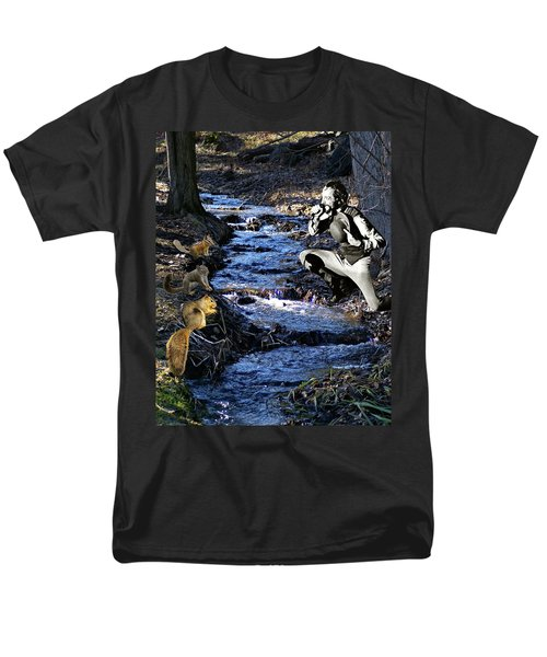 Men's T-Shirt  (Regular Fit) featuring the photograph Creekside Serenade By Ian by Ben Upham