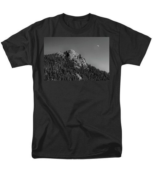 Men's T-Shirt  (Regular Fit) featuring the photograph Crescent Moon And Buffalo Rock by James BO Insogna