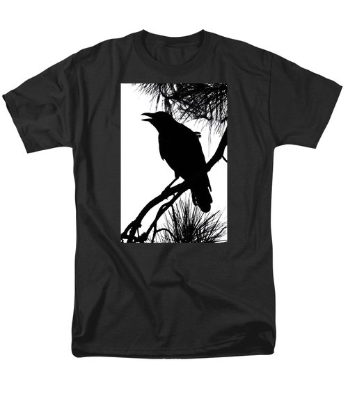Men's T-Shirt  (Regular Fit) featuring the photograph Crow Silhouette by Patricia Schaefer