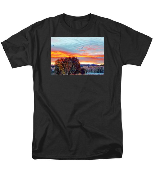 Crows Before Dawn El Valle New Mexico Men's T-Shirt  (Regular Fit) by Anastasia Savage Ealy
