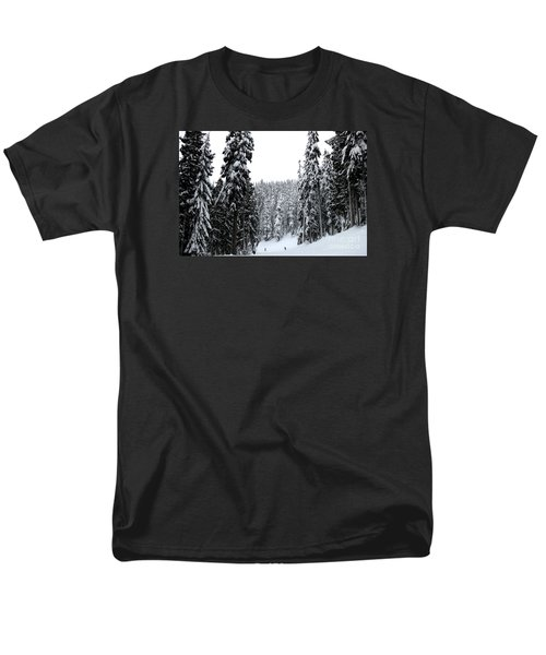 Crystal Mountain Skiing 2 Men's T-Shirt  (Regular Fit) by Tanya Searcy