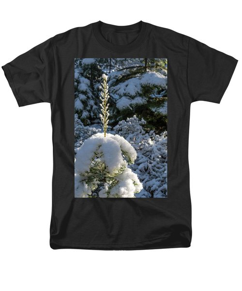 Men's T-Shirt  (Regular Fit) featuring the photograph Crystal Tree by Jan Davies