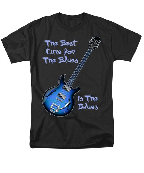 Men's T-Shirt  (Regular Fit) featuring the digital art Cure For The Blues Shirt by WB Johnston