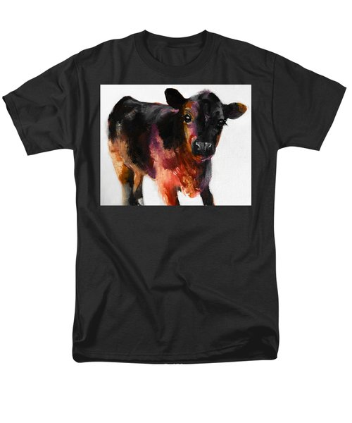 Buster The Calf Painting Men's T-Shirt  (Regular Fit) by Michele Carter