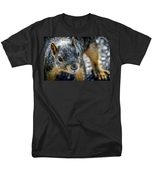 Men's T-Shirt  (Regular Fit) featuring the photograph Curious Squirrel by Joann Copeland-Paul