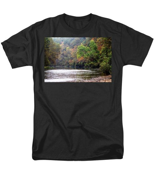 Current River Fall Men's T-Shirt  (Regular Fit) by Marty Koch