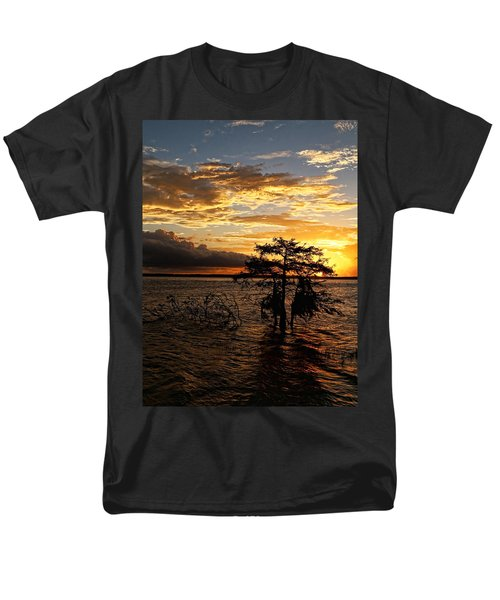 Cypress Sunset Men's T-Shirt  (Regular Fit) by Judy Vincent