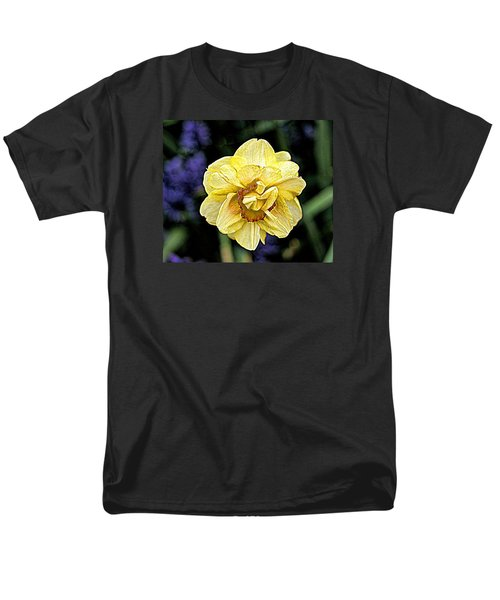 Men's T-Shirt  (Regular Fit) featuring the photograph Daffodil Dallas Arboretum by Diana Mary Sharpton