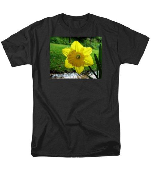 Daffodile In The Rain Men's T-Shirt  (Regular Fit) by Dorothy Cunningham