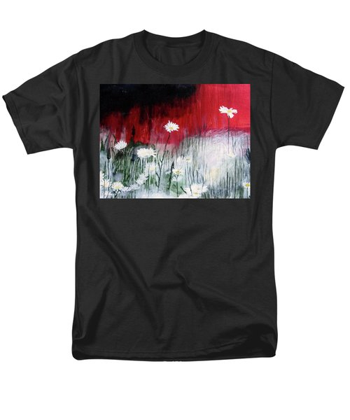 Men's T-Shirt  (Regular Fit) featuring the painting Daisies by Mary Ellen Frazee