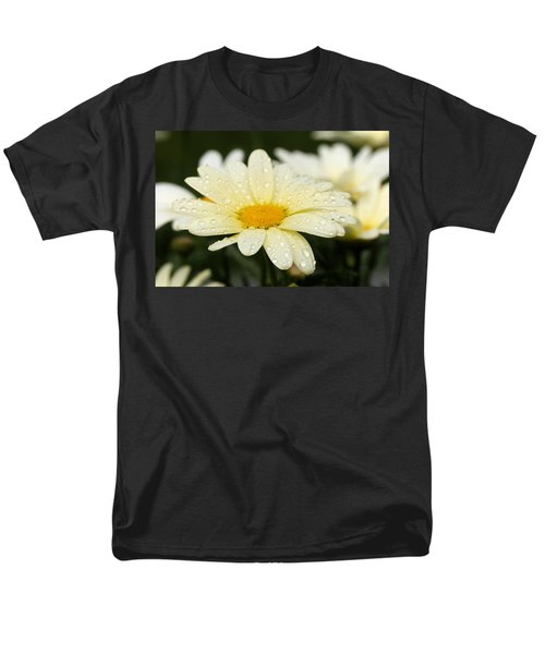 Men's T-Shirt  (Regular Fit) featuring the photograph Daisy After Shower by Angela Rath