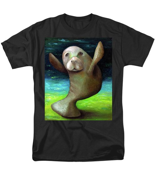 Dance Of The Manatee Men's T-Shirt  (Regular Fit) by Leah Saulnier The Painting Maniac