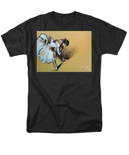 Men's T-Shirt  (Regular Fit) featuring the painting Dancer Adjusting Her Slipper by Jodie Marie Anne Richardson Traugott          aka jm-ART