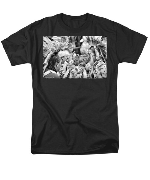 Men's T-Shirt  (Regular Fit) featuring the photograph Dancers And Friends by Clarice  Lakota
