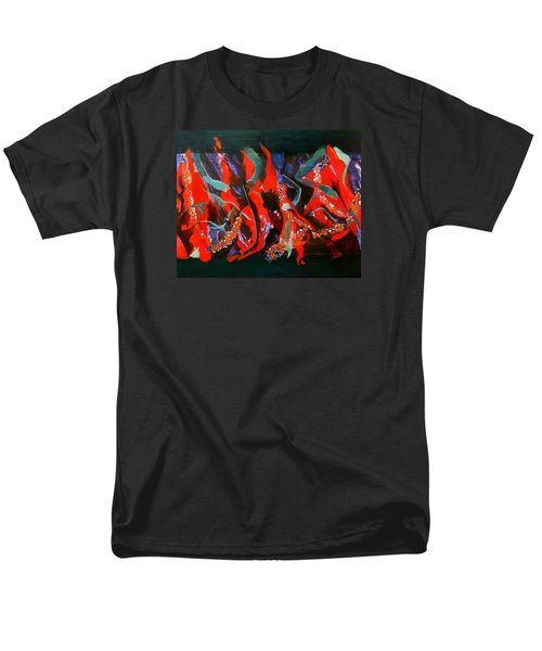 Men's T-Shirt  (Regular Fit) featuring the painting Dancing Flames by Georg Douglas