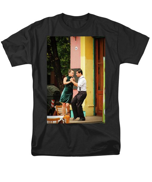 Dancing Tango Men's T-Shirt  (Regular Fit) by Silvia Bruno