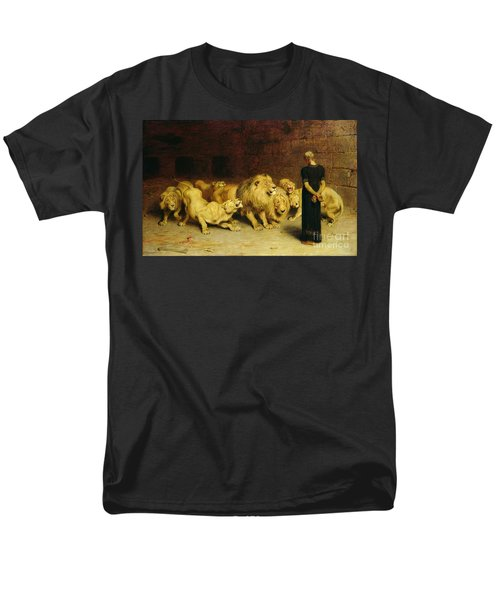 Daniel In The Lions Den Men's T-Shirt  (Regular Fit) by Briton Riviere