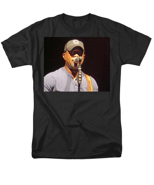 Darius Rucker Live Men's T-Shirt  (Regular Fit) by Aaron Martens