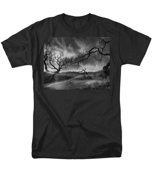 Dark Cemetary Men's T-Shirt  (Regular Fit) by James Christopher Hill