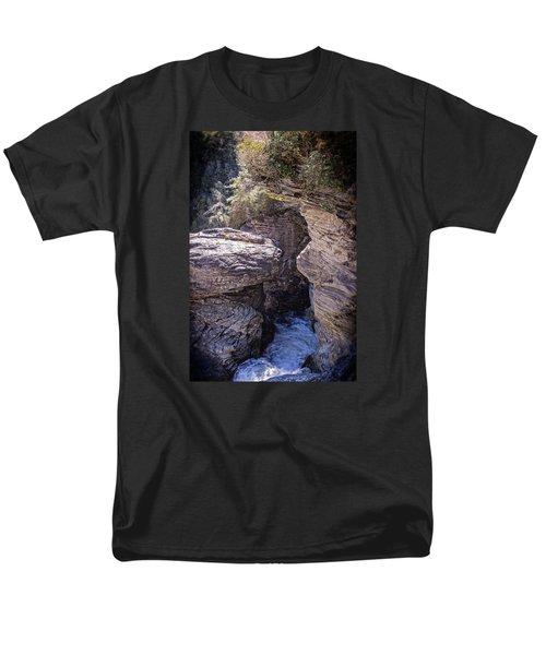 Men's T-Shirt  (Regular Fit) featuring the photograph Dark Chasm by Alan Raasch