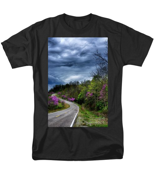 Men's T-Shirt  (Regular Fit) featuring the photograph Dark Clouds Over Redbud Highway by Thomas R Fletcher