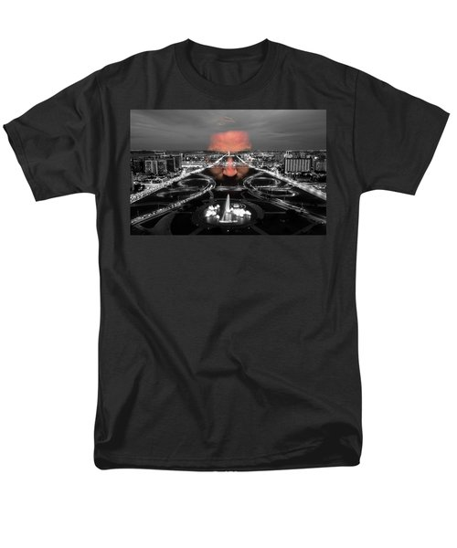 Dark Forces Controlling The City Men's T-Shirt  (Regular Fit) by ISAW Gallery