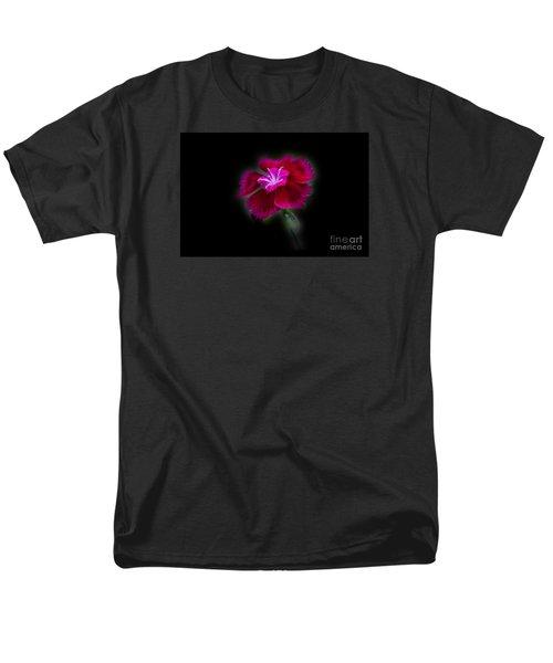 Dark Pink Dianthus Men's T-Shirt  (Regular Fit) by Donna Brown