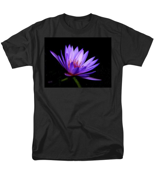 Dark Side Of The Purple Water Lily Men's T-Shirt  (Regular Fit) by Rosalie Scanlon
