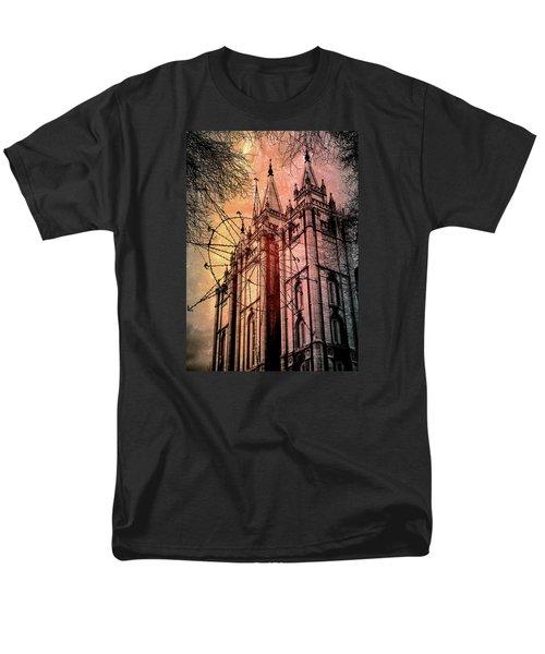 Dark Temple Men's T-Shirt  (Regular Fit) by Jim Hill