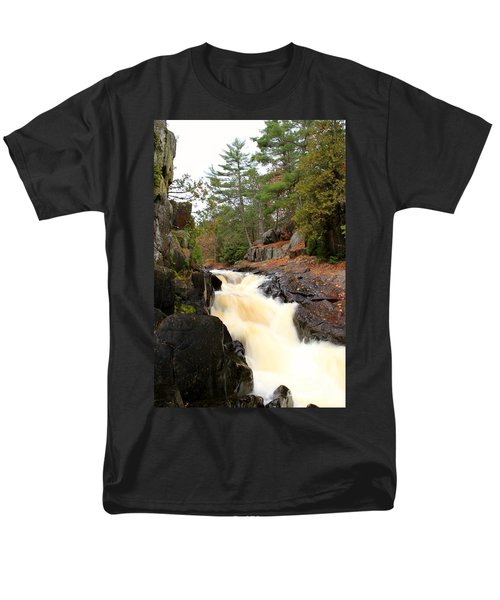 Men's T-Shirt  (Regular Fit) featuring the photograph Dave's Falls #7277 by Mark J Seefeldt