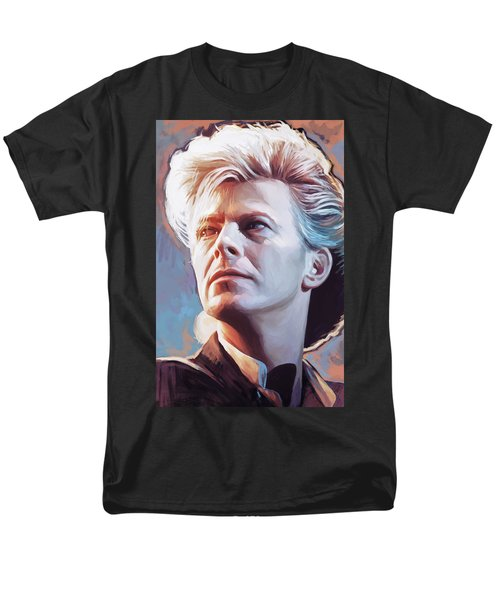 Men's T-Shirt  (Regular Fit) featuring the painting David Bowie Artwork 2 by Sheraz A