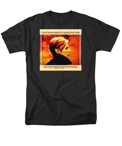 David Bowie Men's T-Shirt  (Regular Fit) by Laura Michelle Corbin