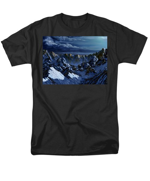 Men's T-Shirt  (Regular Fit) featuring the digital art Dawn At Eagle's Peak by Curtiss Shaffer