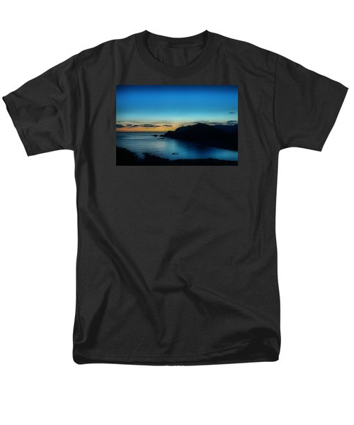 Dawn Blue In Mediterranean Island Of Minorca By Pedro Cardona Men's T-Shirt  (Regular Fit) by Pedro Cardona