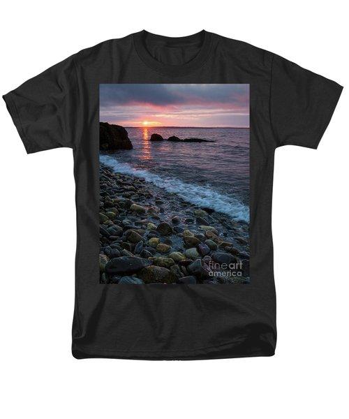 Men's T-Shirt  (Regular Fit) featuring the photograph Dawn, Camden, Maine  -18868-18869 by John Bald