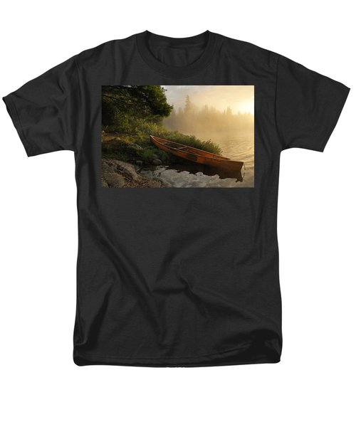 Dawn On Boot Lake Men's T-Shirt  (Regular Fit) by Larry Ricker
