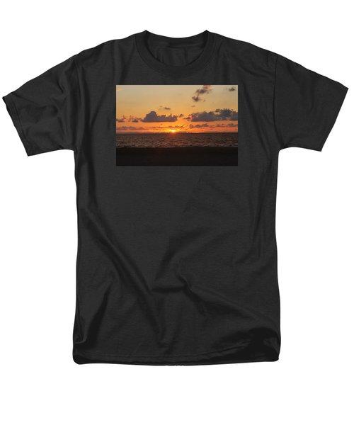 Men's T-Shirt  (Regular Fit) featuring the photograph Dawn's Cloud Layers by Robert Banach